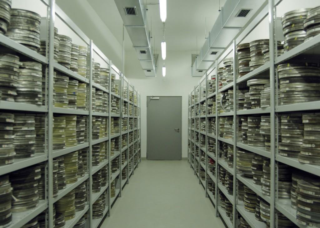 A nitrate film vault in the Federal Film Archive in Hoppegarten, Germany. As seen in Forbidden Films, a film by Felix Moeller. Courtesy of Zeitgeist Films.